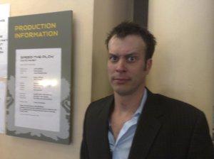 John Schwab looking slightly mad