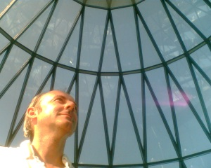 Keith Mansfield at the top of the London Gherkin