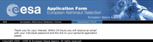 ESA grants permission to apply